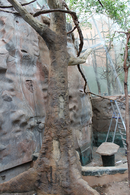 Artificial tree for sloth exhibit