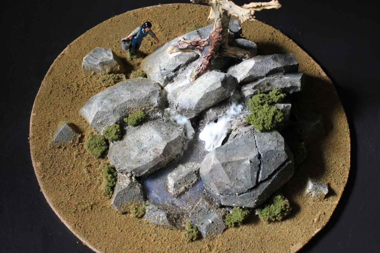 Model of zoo habitat